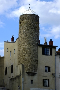 Mediaval tower with extensions